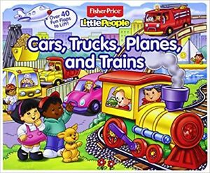 Fisher-Price Little People Lift-the-Flap Cars, Trucks, Planes
