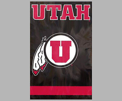 Ncaa Applique Banner (UTAH UTES Official NCAA Team Dynamic Applique WALL BANNER )