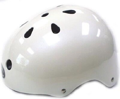 WHITE Kids Bicycle Helmet S/M/L Cycling Skateboard Scooter Protective Gear NEW