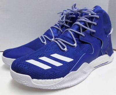 6a52b656cd78 Adidas D Rose 7 Primeknit Boost VII Mens Basketball Shoes Blue B38922 Sz 18