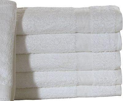 12 new 24x50 white hotel  brand bath towels hotel 100% cotto