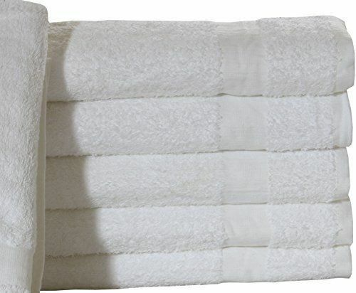 12 new 24x50 white hotel brand bath towels hotel 100% cotton towels