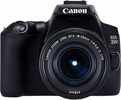 Canon EOS 250D Kit schwarz + EF-S 18-55 IS STM - Kleine Spiegelreflexkamera (Kleine Canon Digital Kamera)
