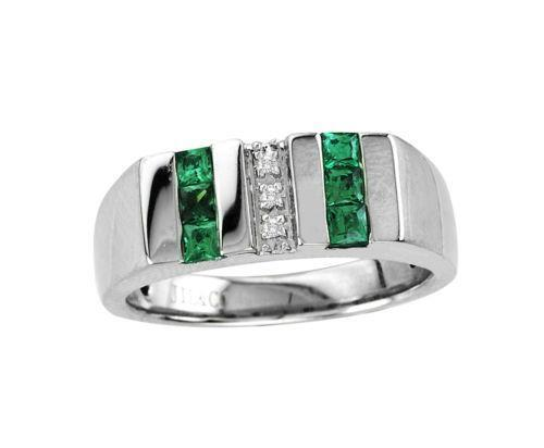 mens genuine emerald ring ebay. Black Bedroom Furniture Sets. Home Design Ideas