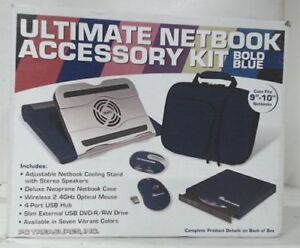 NEW! PC Treasures 9-10 Ultimate Netbook Accessory Kit, Blue!