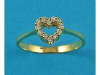 9092838 - 18ct Yellow Gold & Diamond Heart Ring