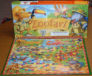Zoofari Game (like Candyland)-Learning Game (colours, counting)