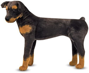NEW-Melissa-and-Doug-Large-Rottweiler-Plush-Stuffed-Animal-Dog-2115-BEST-PRICE