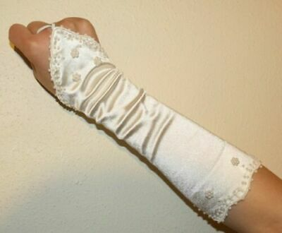 Pearl Fingerless Ivory Bridal Wedding Gloves FREE P&P