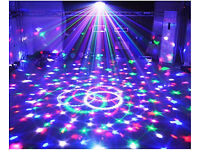 Dj Disco Kids Party Bar Bright LED Mirror Ball Lighting Effects Light Auto Mode Or DMX 512 Contolled