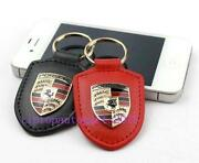Porsche Leather Key Fob