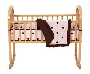 *Reduced* Washed (Once), Once Washed, Unused Pink Cradle Bedding