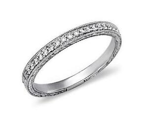 pave set diamond wedding band - Ebay Wedding Ring Sets
