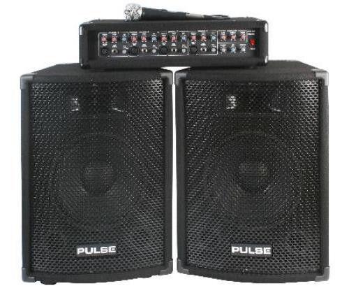 "NEW PA DJ System Set w/ 10"" Speakers.Karaoke.Amplifier.Mixer.Microphone.Event"
