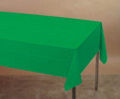 Emerald Green Plastic Table Cover - Party Supplies Emerald Green Plastic Table