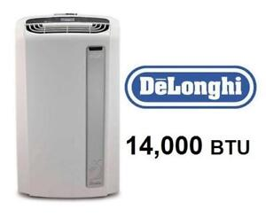 USED* DELONGHI AIR CONDITIONER PACAN140HPEWKC 3A 201324817 Portable - 14,000 BTU/hour - WHISPER - PINGUINO - 14000