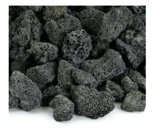 9 lbs Black Lava Rock For Aquariums Terrariums Crafts Decorations