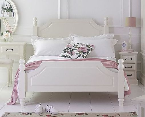 French Ivory Painted Bed