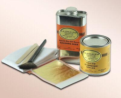 24K Genuine Gold Leaf Kit for gilding / 8oz.