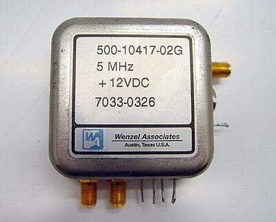 Wenzel 500-10417-02g 5mhz Quartz Oscillator 7033-0326