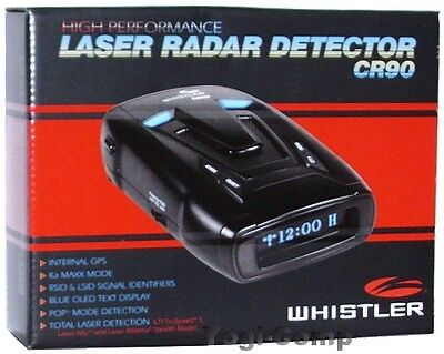 Whistler CR90 Laser Radar Detector w/ GPS + OLED Text Display
