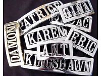 Wholesale Job Lot - NAME BUCKLE STOCK-CHROME & DIAMONTE BUCKLES & LETTERS - CLEARANCE