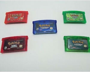 Pokémon Fire Red, Leaf Green, Sapphire, Ruby & Emerald for GBA