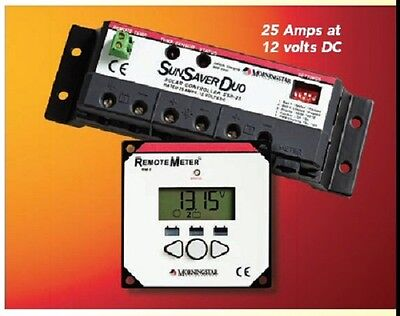 - Morningstar SunSaver DUO SSD-25RM Solar Panel RV Boat Battery Charge Controller