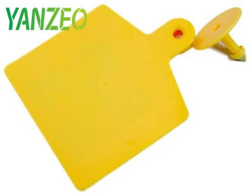 10Pcs RFID Ear Tags Plastic Sheep Cow Goat Cattle Farm Animal Ear Tags Yellow