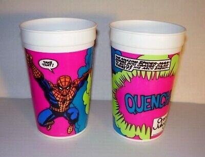 Vintage 1986 Orange Julius Spider-Man Cup - Lot Of 2