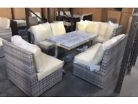 Rattan Garden Sofa And Table, Rattan garden furniture