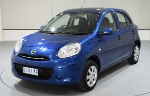 2014 Nissan Micra K13 MY13 ST Blue 5 Speed Manual Hatchback Invermay Launceston Area Preview