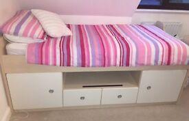 Childrens Bedroom Furniture Set inc Bed, Bedside Table, Chest of Drawers and Desk