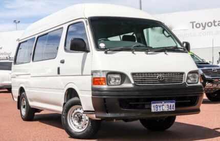 2004 Toyota Hiace LH184R Commuter Super LWB White 5 Speed Manual Bus