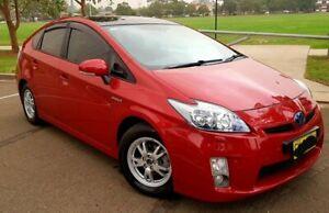 2009 Toyota Prius ZVW30R I-Tech Hybrid Burgundy Continuous Variable Hatchback Parramatta Parramatta Area Preview