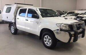 2011 Toyota Hilux KUN26R MY12 SR Double Cab White 5 Speed Manual Cab Chassis Kenwick Gosnells Area Preview