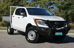 2015 Mazda BT-50 UP0YF1 XT White 6 Speed Manual Cab Chassis Officer Cardinia Area Preview
