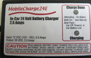 24V DC CHARGER FOR MOBILITY SCOOTER IN VEHICLE.