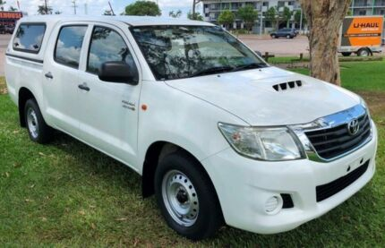 2013 Toyota Hilux KUN16R MY12 SR Double Cab 4x2 White 5 Speed Manual Utility Berrimah Darwin City Preview
