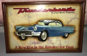FORD THUNDERBIRD CLASS WOOD SIGN - PERFECT FOR MANCAVE!