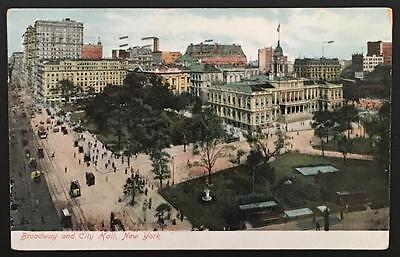 Broadway and City Hall New York 1907 The American News Company B12740 - Party City News
