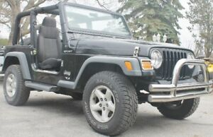 Black Jeep TJ Automatic 2003 Lower Kms Nice Condition