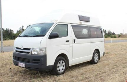 2010 Talvor Toyota Hiace Hitop White Campervan Gepps Cross Port Adelaide Area Preview