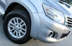 2015 Toyota Hilux KUN26R MY14 SR5 Double Cab Silver 5 Speed Automatic Utility Nunawading Whitehorse Area Preview