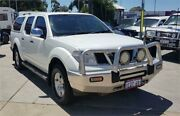 2009 Nissan Navara D40 ST-X (4x4) White 5 Speed Automatic Dual Cab Pick-up Cannington Canning Area Preview