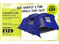 Brand new 6 man tent plus brand new extras.
