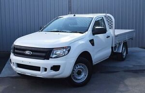 2013 Ford Ranger PX XL 4x2 White 6 Speed Manual Cab Chassis Invermay Launceston Area Preview