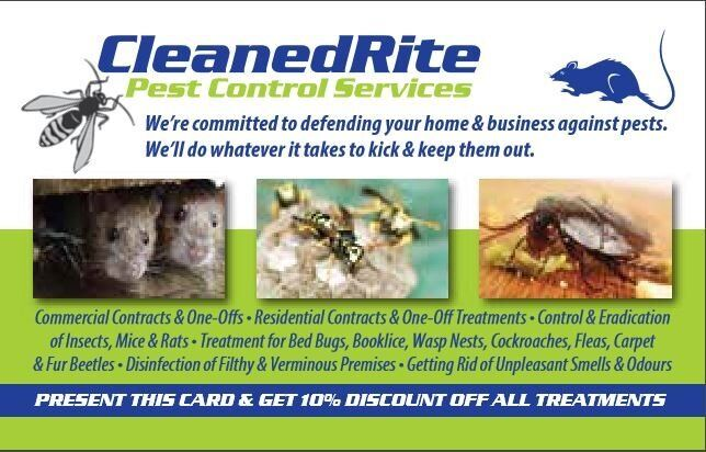 CleanedRite Pest Control London, We Guarantee You Peace of Mind (Mice,Rat,Bed bugs,Cockroaches,Fleas