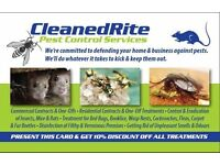 CleanedRite Pest Control London, The Complete Pest Treatment That Guarantees You Peace of Mind.