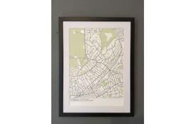 Wimbledon Map Print with frame